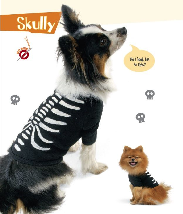 Dog halloween costume ideas dog costume excerpted from bow wow wow free patterns easy halloween dog tees and costumes solutioingenieria Image collections