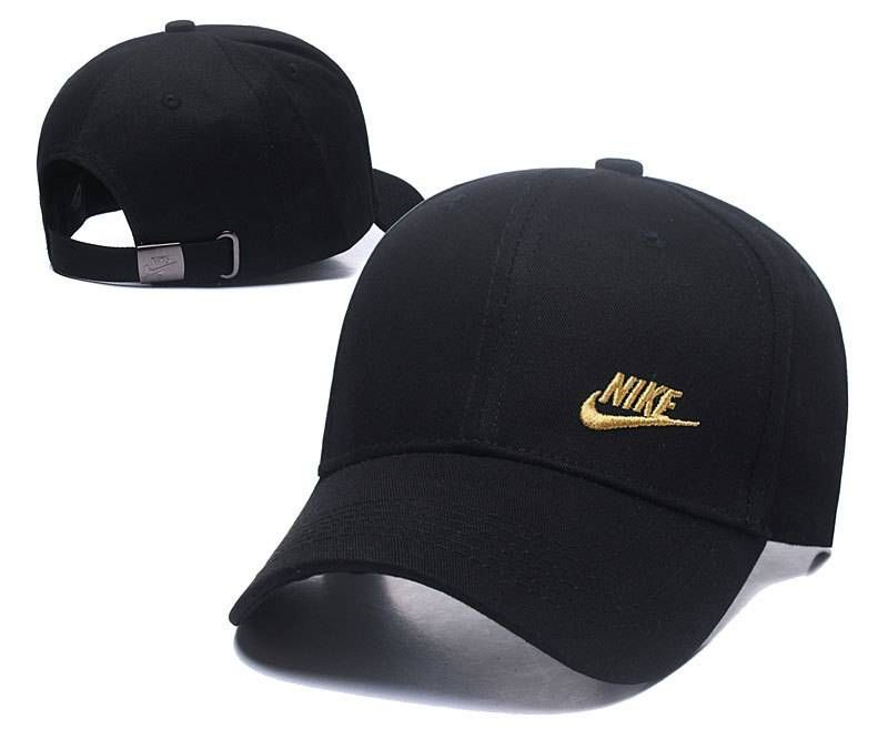 8aa63cc1c66d9 Nike Headwear Caps Adjustable Embroidery Hats Black Gold (106 ...