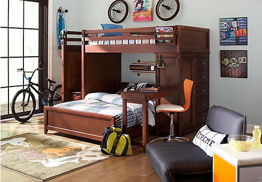 Shop For A Ivy League Cherry Twin Twin Step Loft Bedroom At Rooms To Go Kids Find That Will Look Great In Your Home An Bunk Beds Kid Beds Girls Bedroom