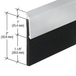 Crl Aluminum Heavy Duty Door Sweep 32 813 Mm By Cr Laurence By Cr Laurence 22 48 Length 32 813 Mm Thickness 1 1 8 28 6 Mm 60 Durometer N Laurence