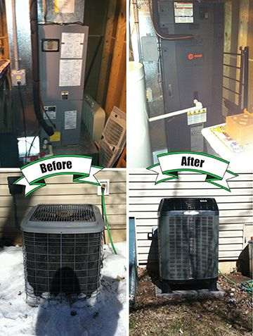 This Customer Replaced Their Old System With A Trane Xl18 Heat