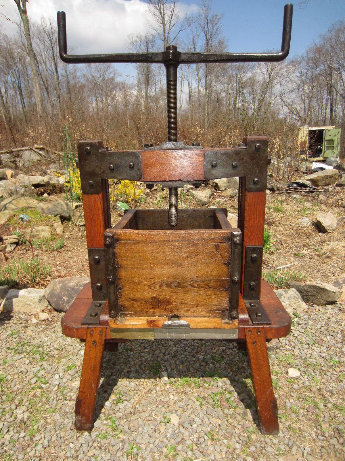 Cider Press For Sale >> Antique Apple Cider Press Wine Press 5 Gal Box Works Orchard Farm