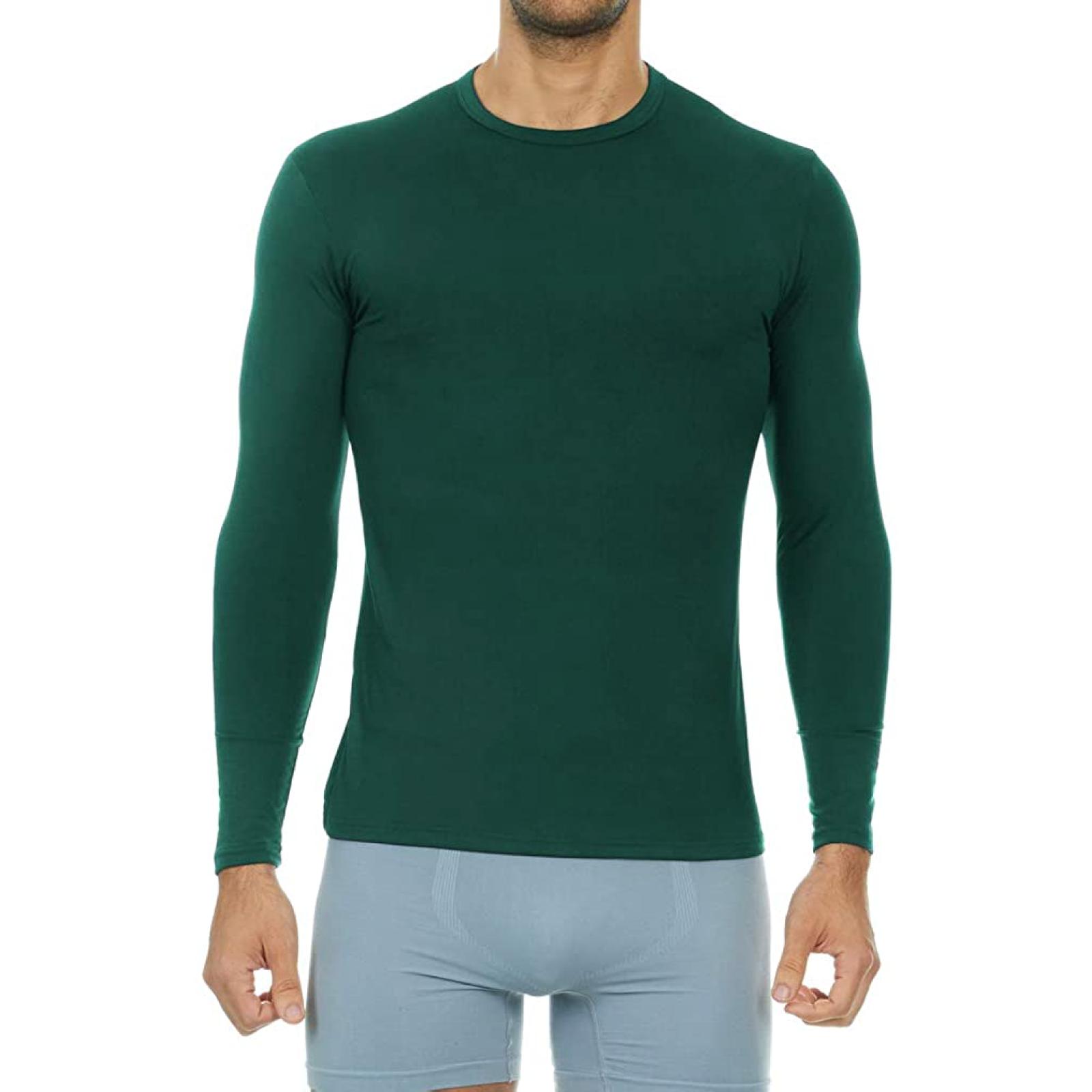 Men's Ultra Soft Thermal Baselayer Shirt - Hunter Green / XXXL