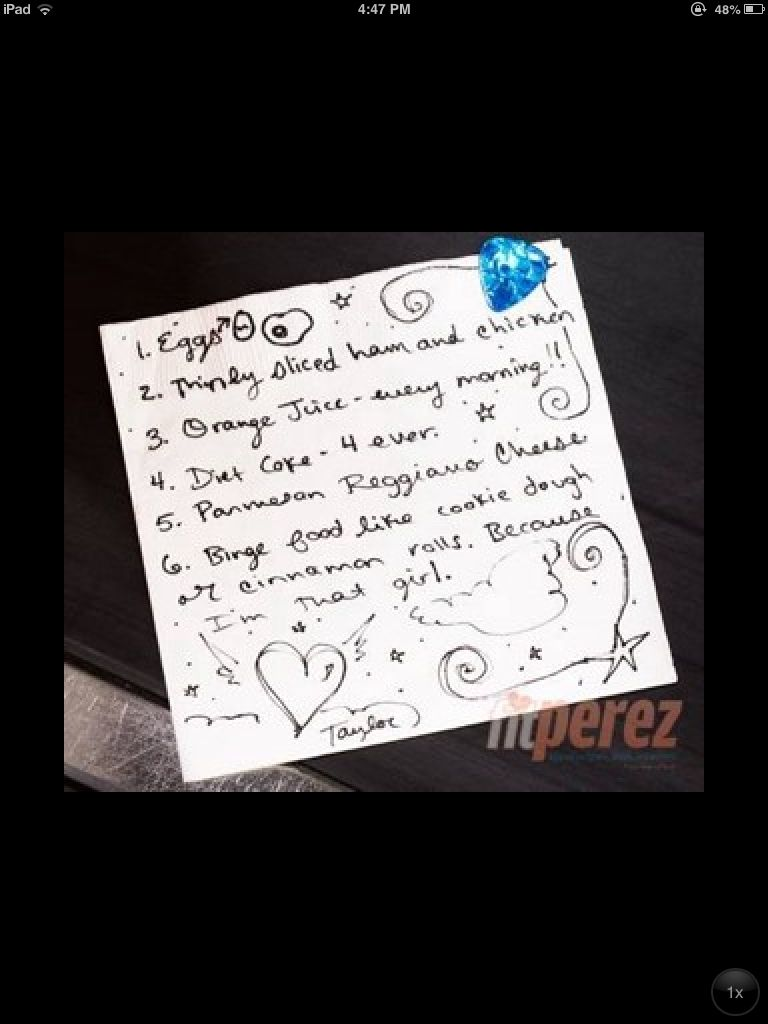 Taylor\'s grocery list. | Rare Taylor | Pinterest | Taylor s
