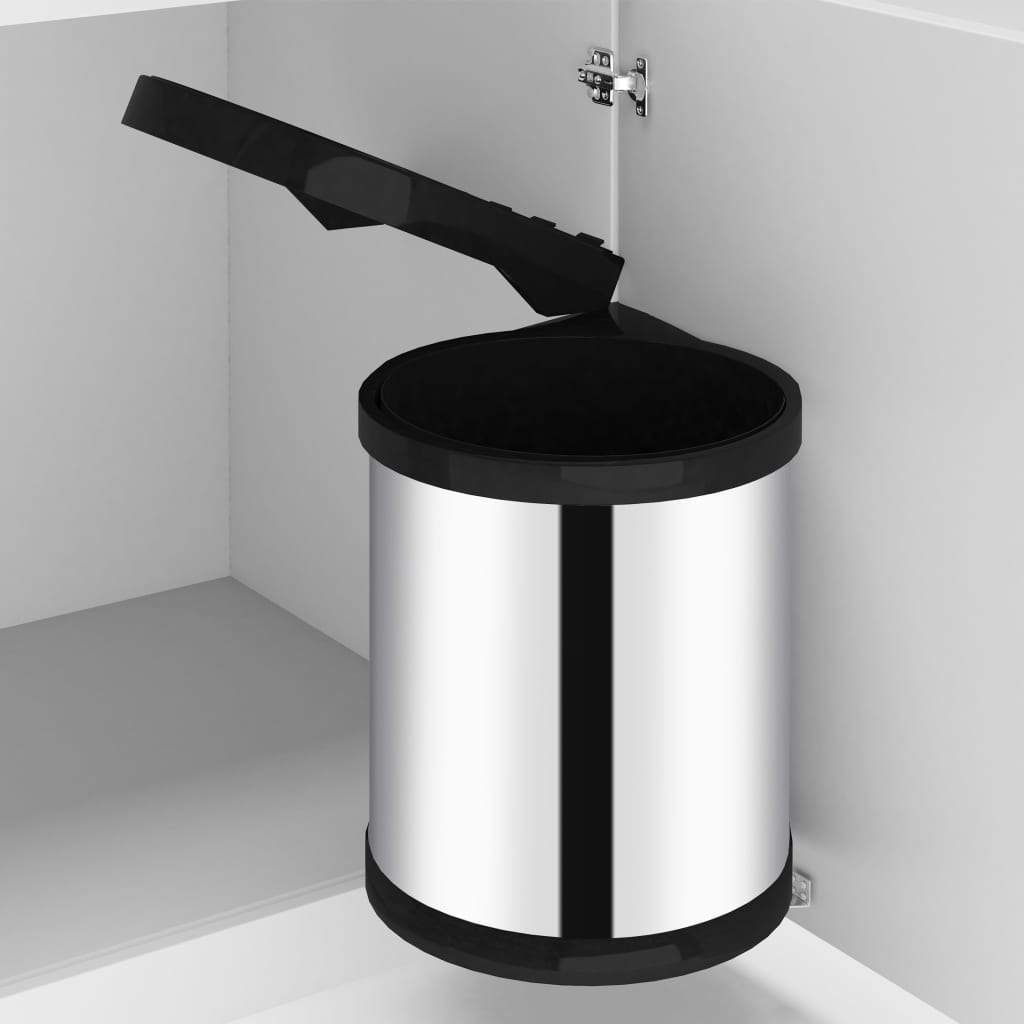 built-in trash can for the kitchen 12 l stainless steel