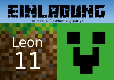 Minecraft Karte Machen.Minecraft 11 Hanna S Room Stuff Einladungskarten