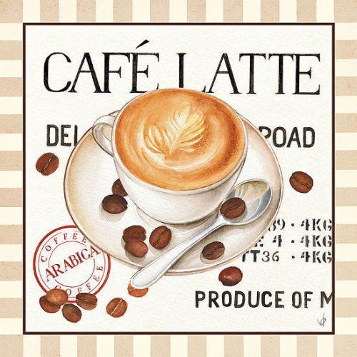 Details zu Verbeek Designs Fresh Coffee I Fertig-Bild 30x30 - wandbilder für die küche