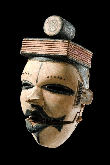 "Mask with hinged jaw ""elu"" Nigeria, Ogoni"
