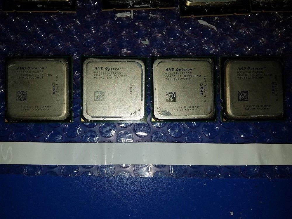 1 Matched Pair Intel Quad Core Xeon CPU E5620 2.40GHZ//12M//5.86 SLBV4 2 CPUs