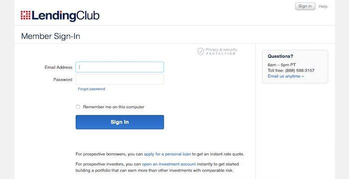 Lending Club Sign In Lendingclub Com Loans With Images