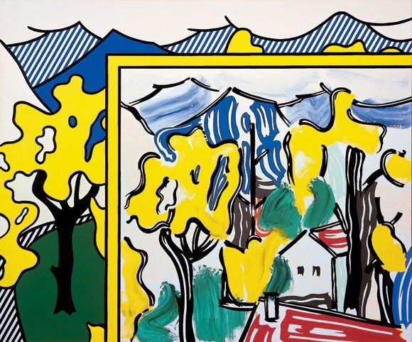 Roy Lichtenstein - Painting in Landscape (1984)