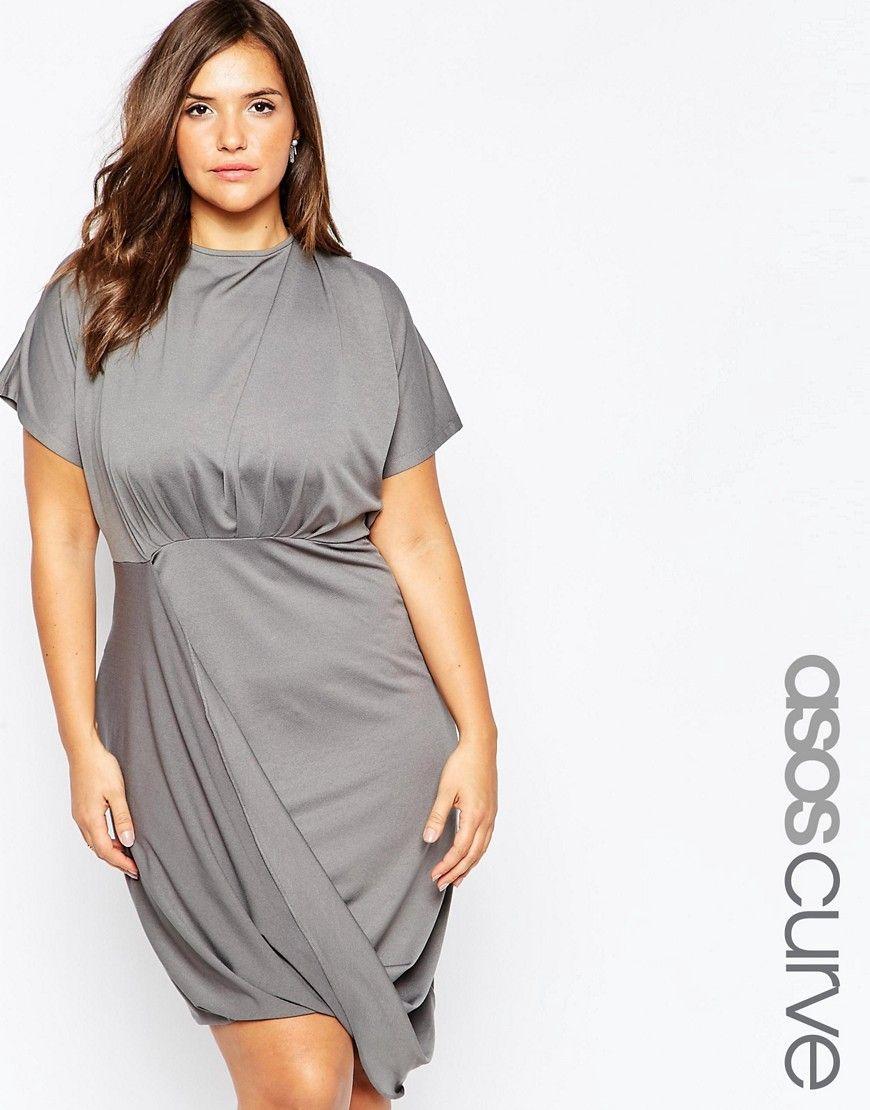 ASOS CURVE Wrap Twist T-Shirt Dress