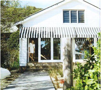 Driftwood Interiors Stripe Me Lucky Beach House Exterior House Awnings House Exterior
