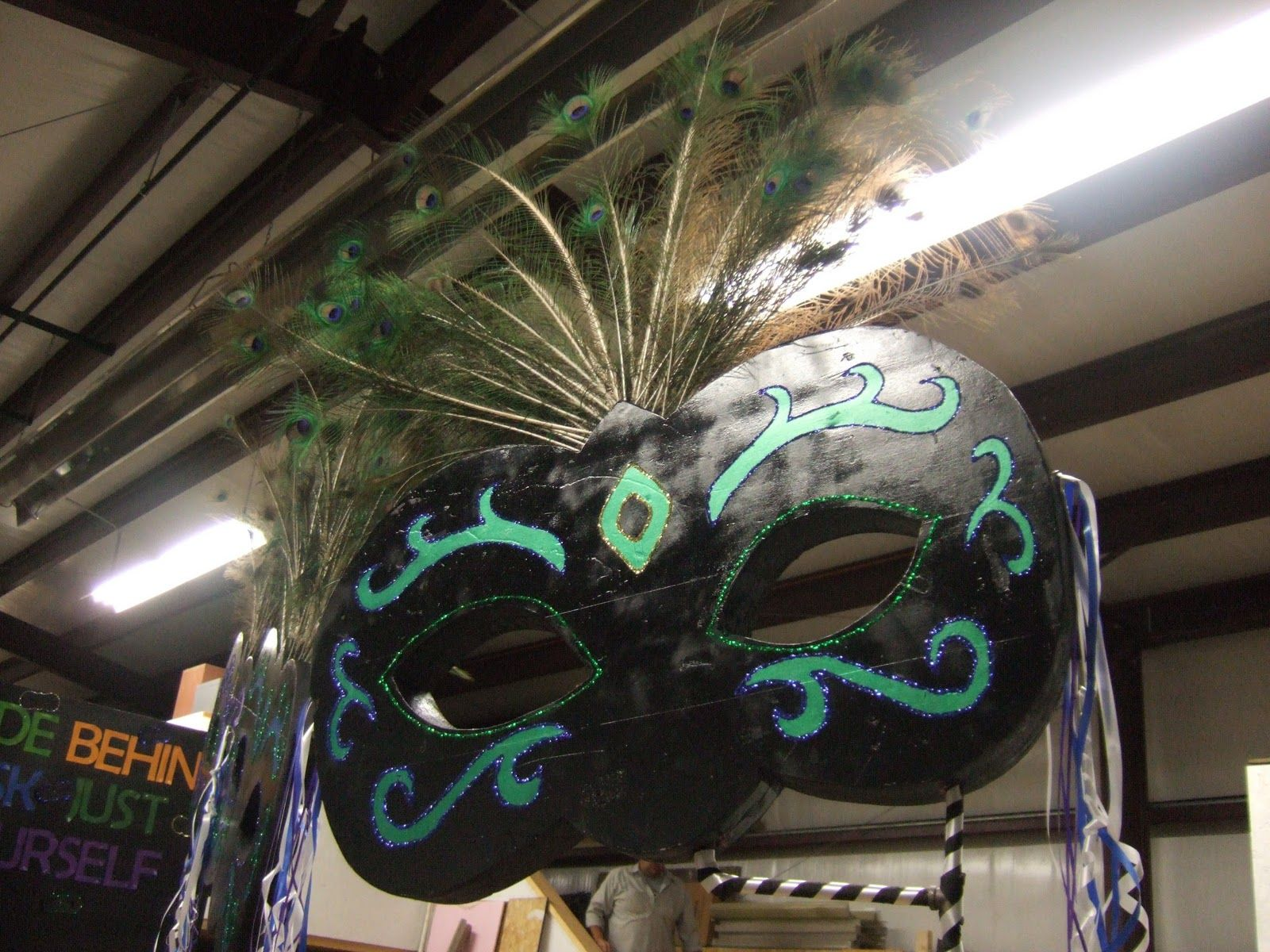 Mask Decorating Ideas We Recently Made A Parade Float For Homecoming And We Got To Put