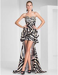 novia vaina / columna vestido asimétrico de poliéster de la tarde / del baile