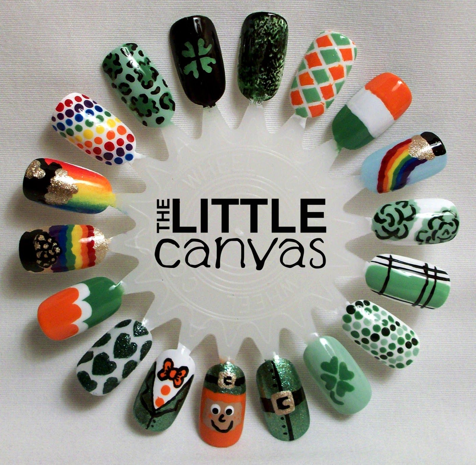 St. Patrick\'s Day Nail Art Wheel (The Little Canvas) | Nail art ...