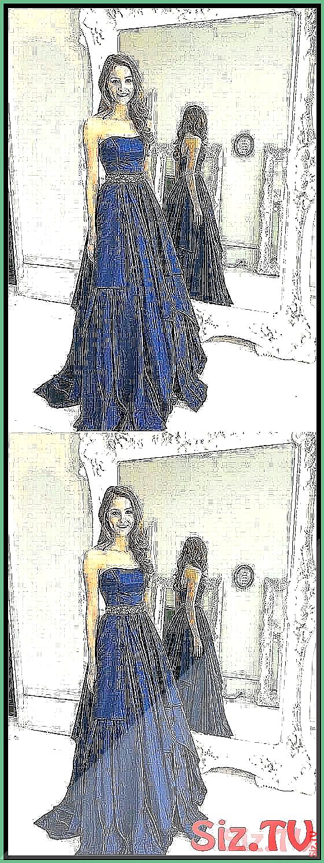 Trägerlosen a-line langen Abendkleid Schule Tanzkleid Mode Winter formelle …   – Sweater