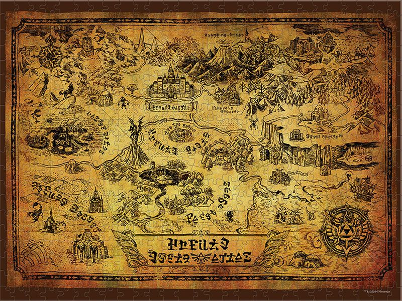 The Legend of Zelda is a 550 piece Collectors jigsaw puzzle