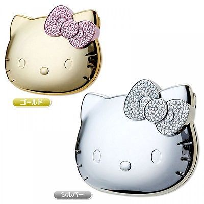 Hello Kitty Compact Mirror Makeup Ribbon Kawaii Sanrio Japan Gift FREE Shipping