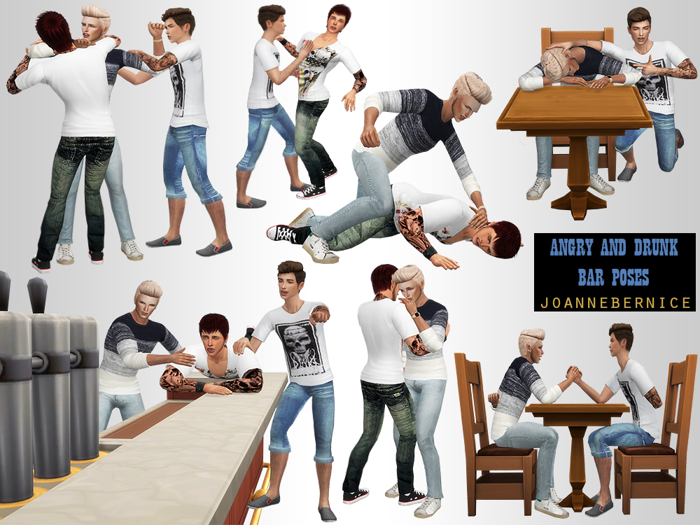 Sims cc · CRAZY ANGRY DRUNK POSES This one is a request by @lumalinrose.  She sent me