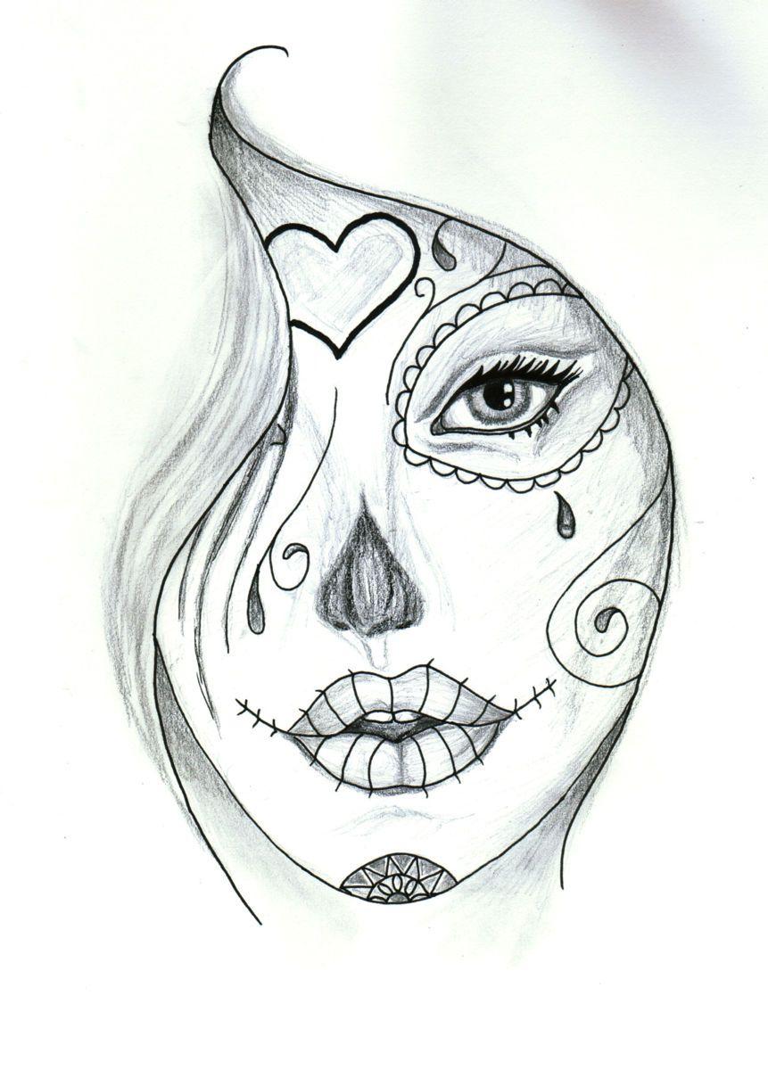 Catrina Dibujo 21x297 Cm Por Valentine Fasquel Les Retours