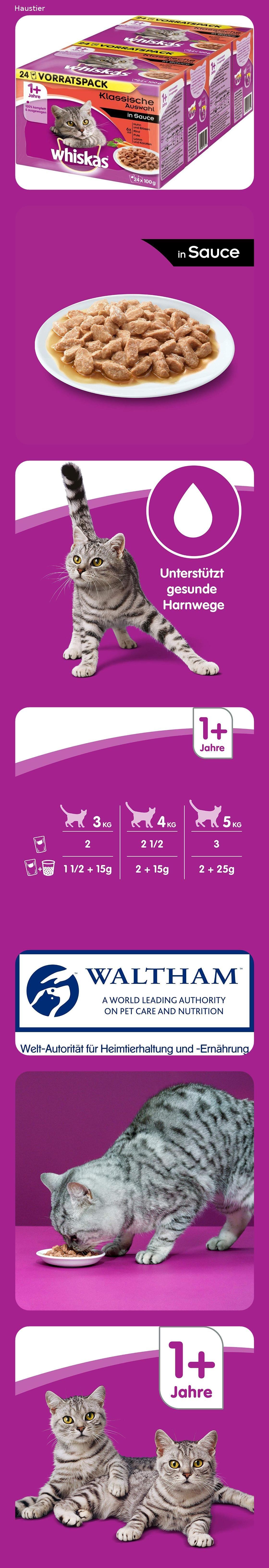 Whiskas 1 Katzenfutter Hochwertiges Nassfutter Fur Gesundes