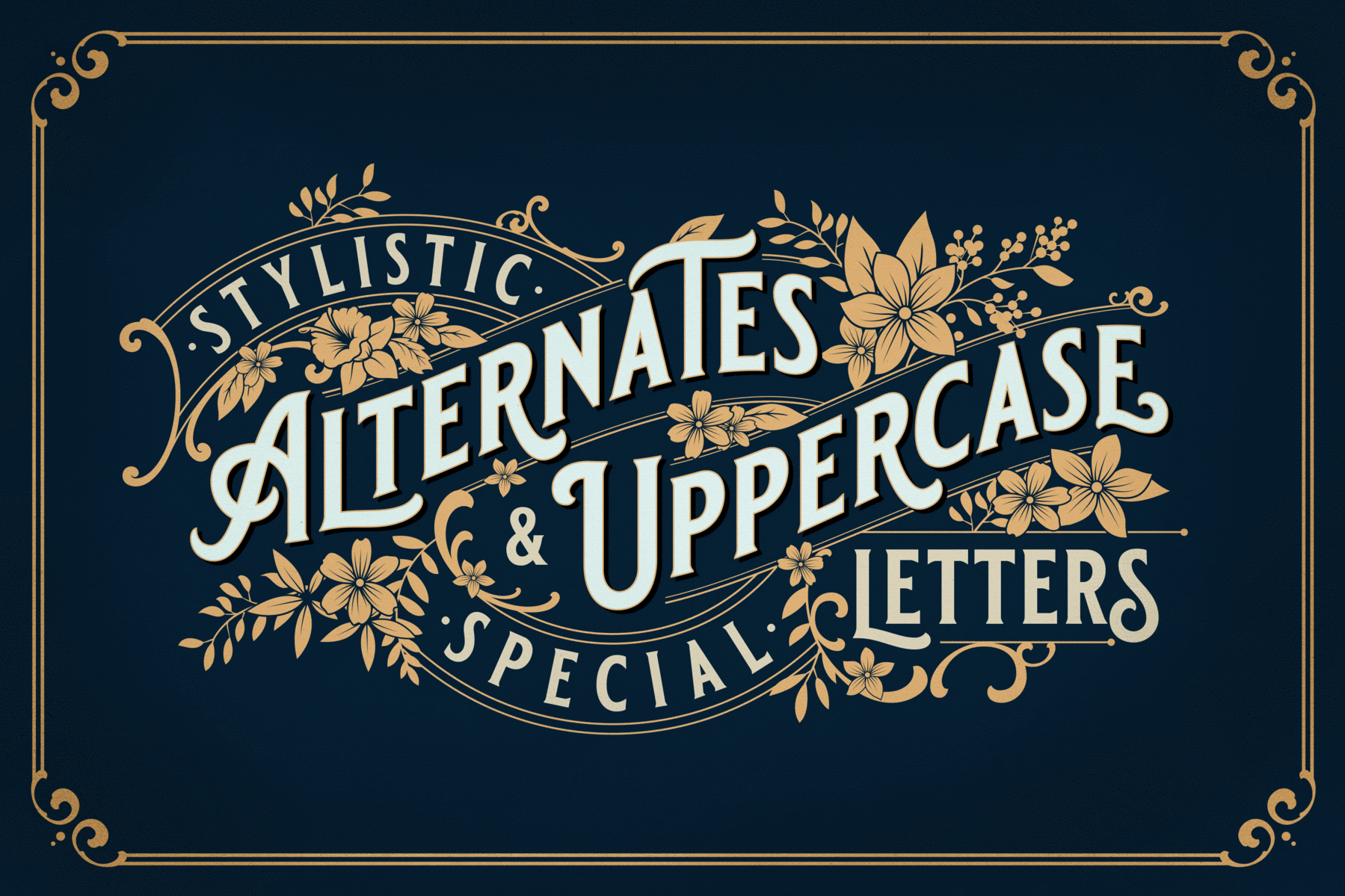 Blackriver Font + Ornaments is part of Vintage logo design, Vintage fonts, Vintage logo, Lettering, Vintage packaging, Font bundles - ornaments (AI, EPS, PDF, afdesign, PNG) Logo Templates (Requires Adobe Illustrator CS or higher) User License (PDF) Font Guide (PDF) Font Features Character set AZ with special uppercase letters Stylistic Alternates Numerals & Punctuation Accented Characters (West Europe) PLEASE NOTEMost of the vintage fonts require advanced graphic software that supports Open Type Features like Adobe Illustrator, InDesign or Photoshop  We can't guarantee complete usability in basic text software like Microsoft Word or similar  After checking out, you will immediately receive an email with a download link to your files  Check out our license agreement here License AgreementFor any other questions please check our FAQ