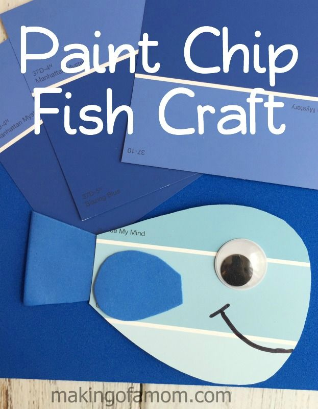 Paint Chip Fish Craft Fish Crafts Craft Projects For Kids