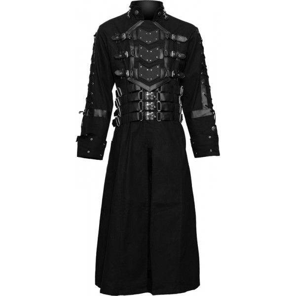 406a4e4310 The brand new Hell Raiser mens coat design from 2013 goth clothing  collection by Raven SDL. A unique design with chest plate cover and metal  buckles.