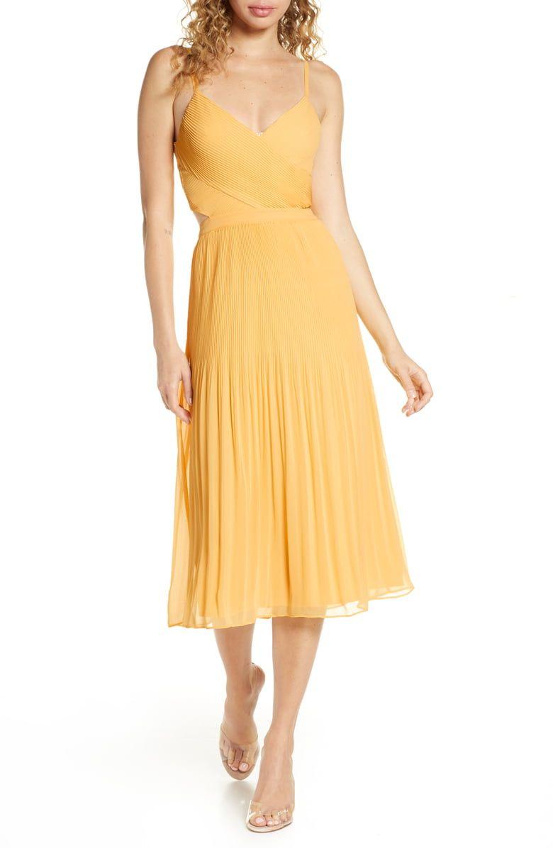 Ali & Jay For the Gram Chiffon Midi Dress | Nordstrom | Chiffon midi dress, Yellow midi dress, Midi dress