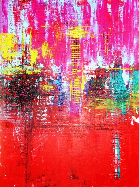 art painting abstract original painting wall art 24x32 by CrazyMo, €240.00