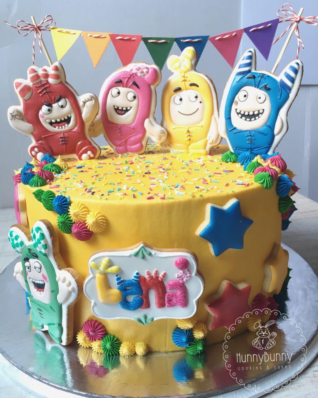 Oddbods Cake Party Birthday Cookies