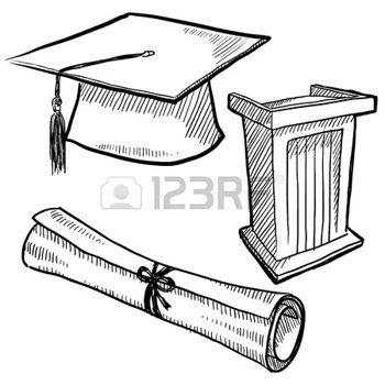 34++ Cap and gown diploma clipart information