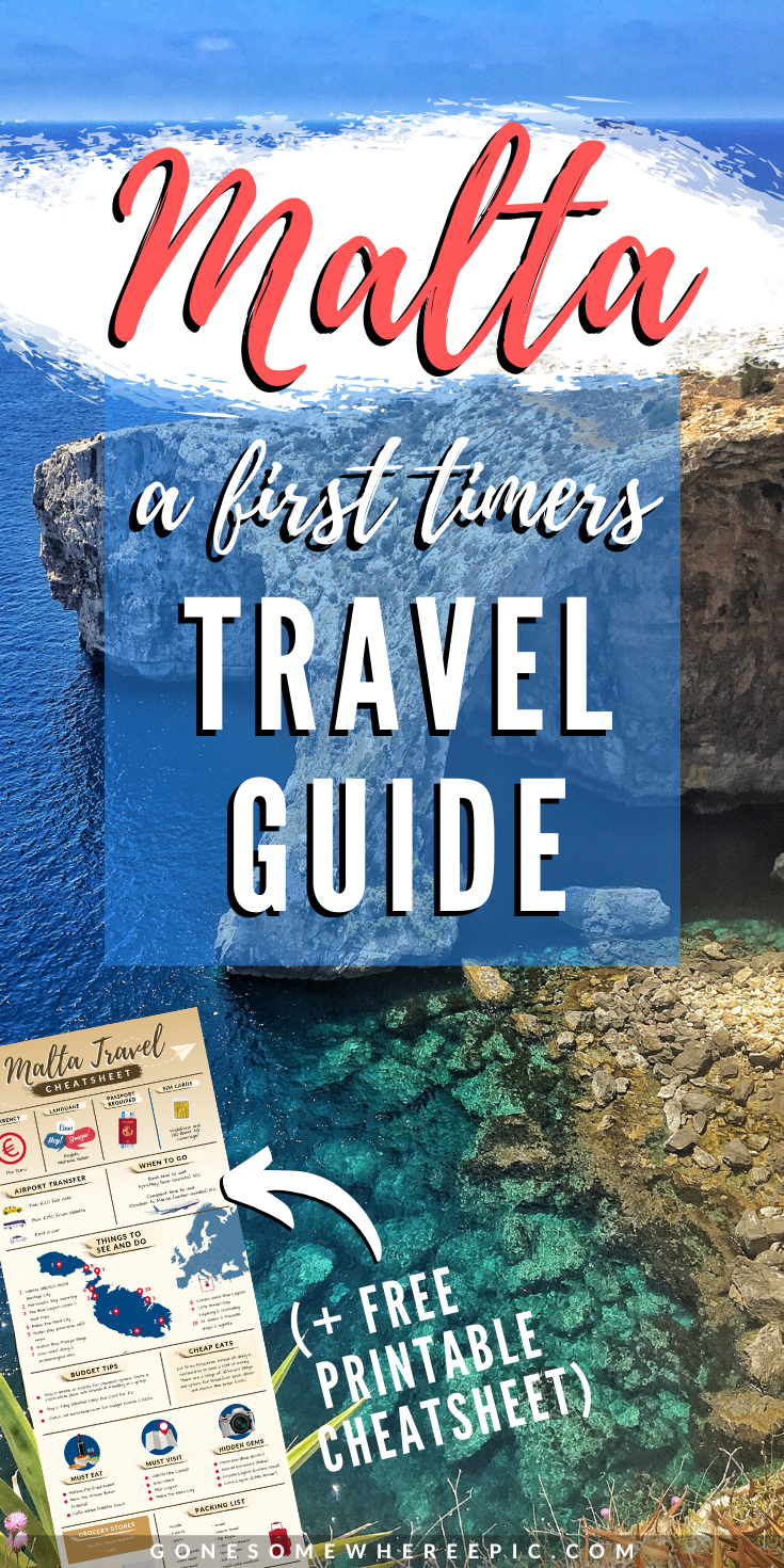 Malta: The complete Travel Guide - everything you need to know for travelling around the Mediterranean island of Malta. Top tips, travel hacks, budget advice, what to see and do, how much does it cost, hidden gems and where to find them. #europetravel #maltatravel #travelguide #cheapflights #europeflights