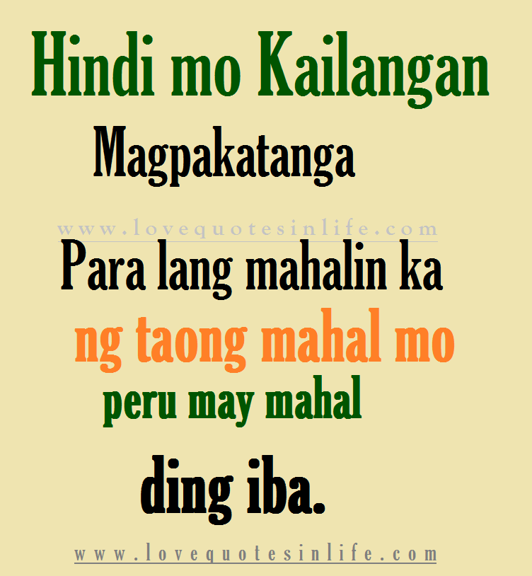 Tagalog Quotes About Friendship: Five Hugot Love Quotes Tagalog
