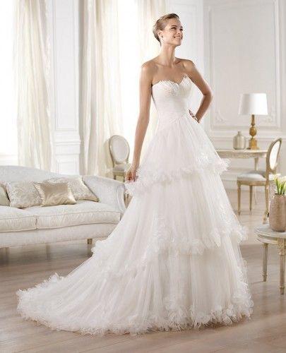 Vestidos de novia corte imperio pronovias