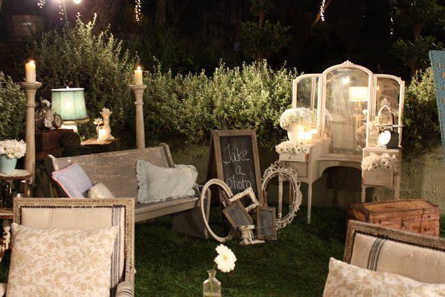 Storibook Weddings- vintage shabby chic decor