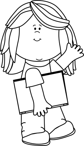 Black And White Black And White Girl With Book Waving Black And White Girl Butterfly Coloring Page Black And White