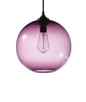 Decorating With Purple Purple Lamp Purple Decor Glass Pendant Lamp