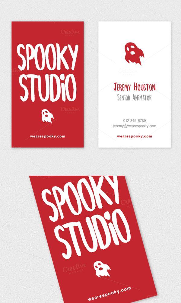 Ghost Logo Handwritten Business Card | Business Card | Pinterest ...