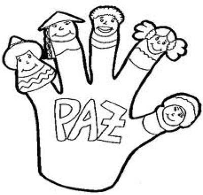 Manitas De La Paz Manualidad Dia De La Paz Dibujos De