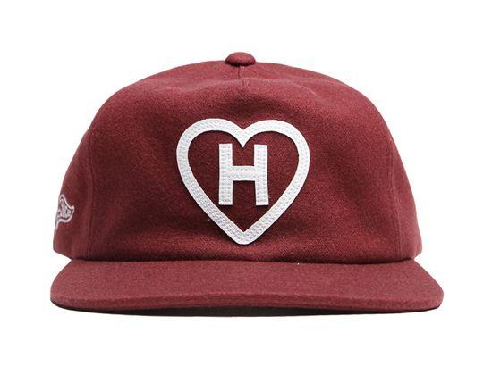 5302ec7c567 H Love Melton Burgundy Snapback Cap by HALL OF FAME Snapback Cap