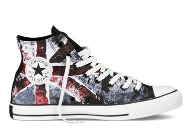 51c204c075a8 2014 Converse British Flag All Star High Tops Union Jack Flag Black Red  Athletic Shoes 140908C