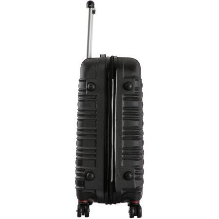 InUSA New York Collection Lightweight Hardside Spinner, 20 inch Carry On, Black
