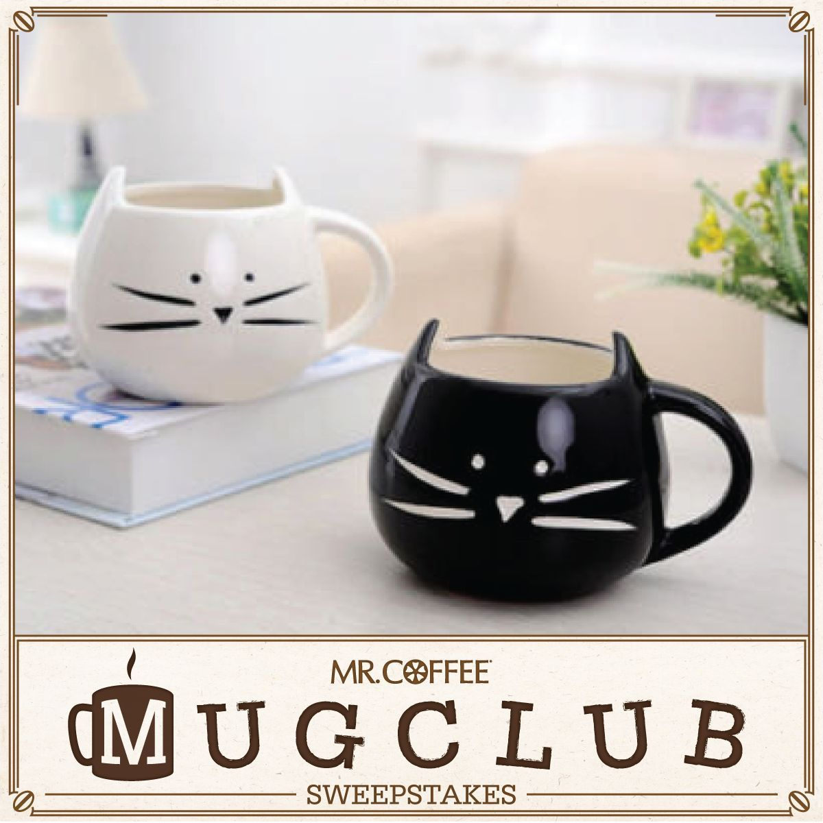 Meow....enjoy your cup of morning coffee out of this cute