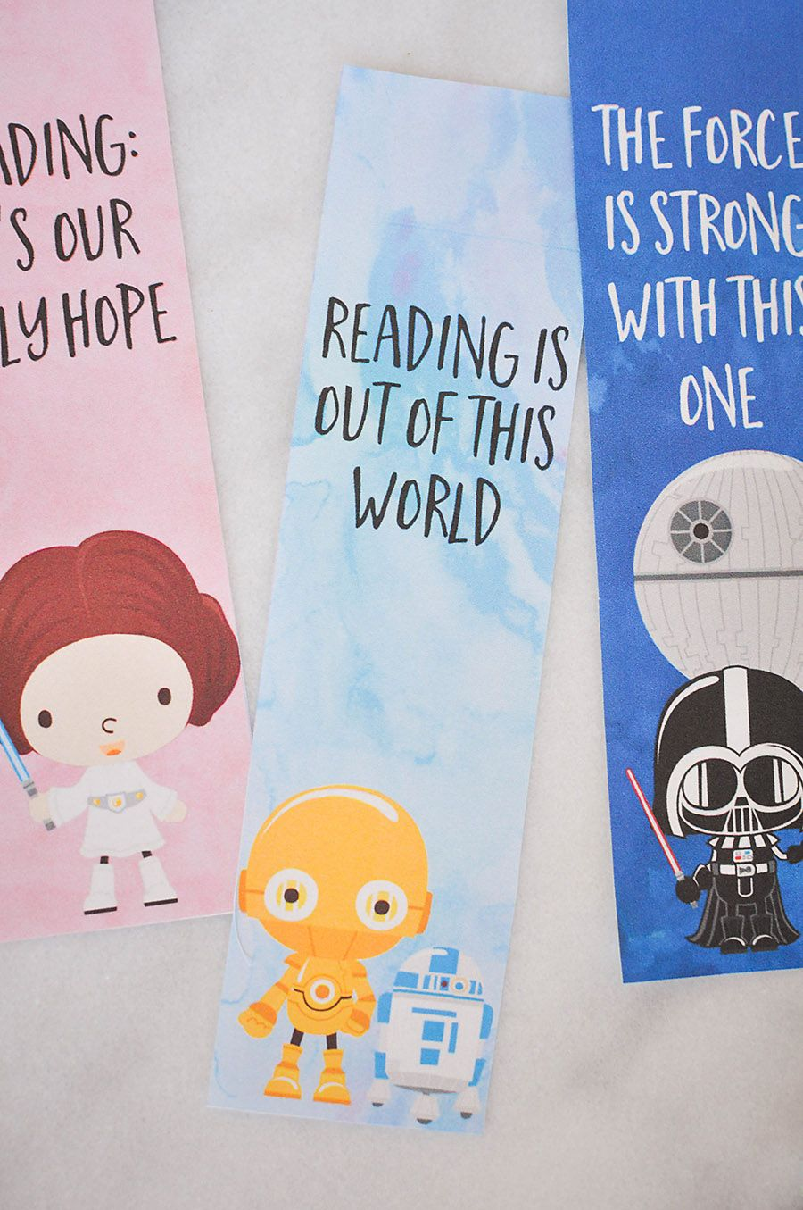 picture about Star Wars Bookmarks Printable named Star Wars Bookmarks - Cost-free Printables for Children Pleasurable With
