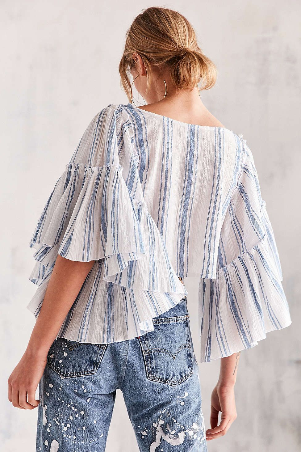 ec1bbf59510492 Going Out Tops for Women. Kimchi Blue Raine Bell-Sleeve Blouse