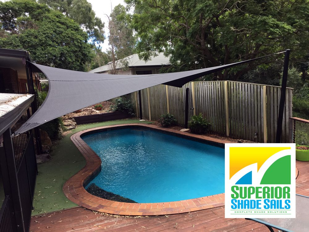Pool shade sail installation at Barellan, Brisbane - 6 point sail ...