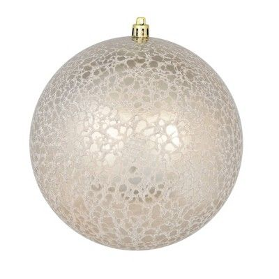 Vickerman 8 Champagne Crackle Ball Ornament Ball Ornaments Christmas Ornaments Vickerman