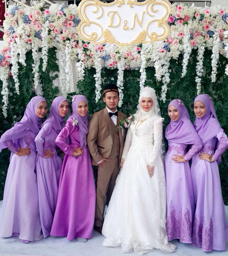 Theme purple hijab | Bridesmaid dresses | Pinterest